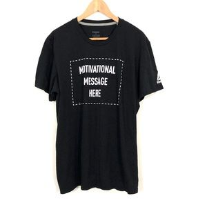 "Reebok ""Motivational Message Here"" T-shirt Black"